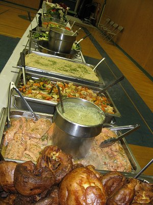 Selection of Hot Buffet Items